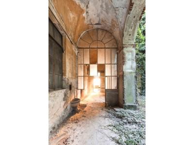 ALIX - Armoire 1 porte bois 1 porte miroir coulissantes