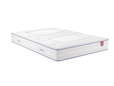 ALIX - Armoire 3 portes battantes et 2 tiroirs blanc mat