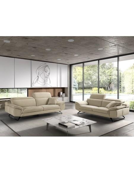 ALIX - Armoire 2 portes bois coulissantes blanc mat