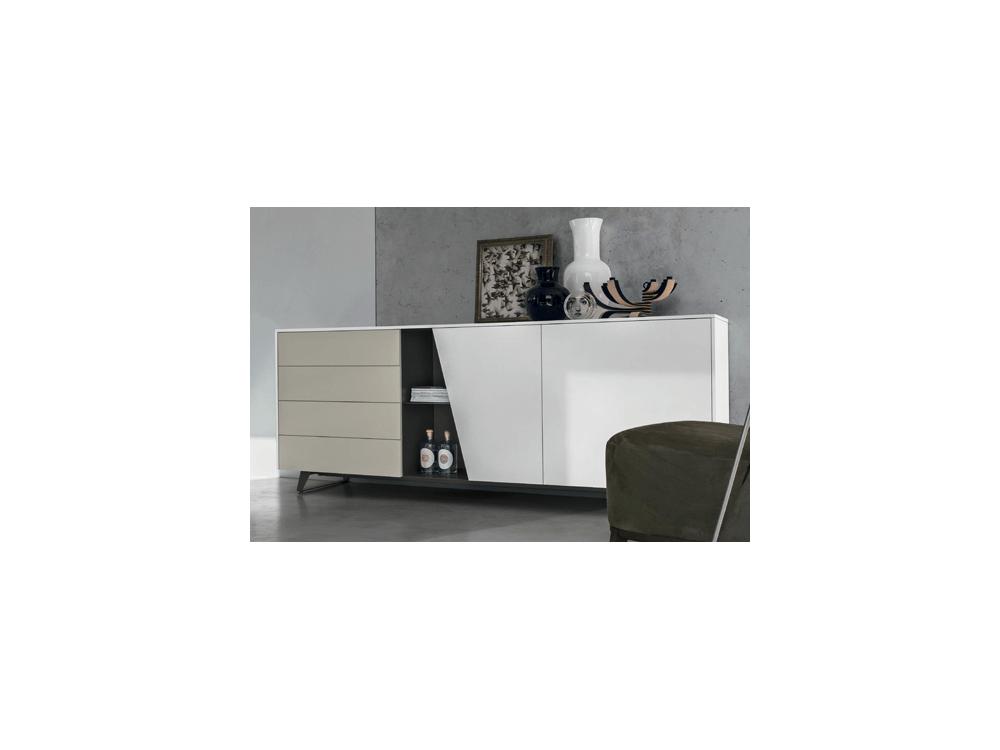 Lumeo gris clair armoire 2 portes coulissantes espace for Porte interieur gris clair