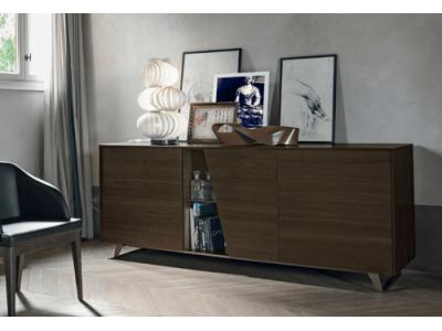 LUMEO GRIS CLAIR - Armoire 3 portes ouvrantes